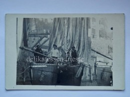 LAURANA LOVRAN ABBAZIA ISTRIA Vecchia Cartolina Barca Pescatori Fischerman AK Croazia 3655 - Croazia