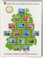 The Bigest Of The World 15 Jahre DDR 1964 Block 19 O 100€ Imperf.Regionen Berufe Architectur Bloc Work Sheet Bf GDR - [6] Democratic Republic