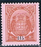 "Companhia De Moçambique, 1907, # 56, ""5"" Bandeira Curta, MH - Mozambique"