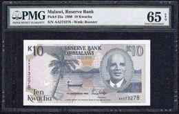 Malawi, 10 Kwacha Type 1990 PMG 65 EPQ Gem *UNC* - Banknotes