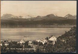 °°° 9233 - NORWAY - NARVIK - HARJANGS OG GRATANGSFJELLENE - 1954 With Stamps °°° - Norvegia