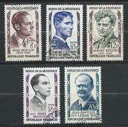 FRANCE 1957 . Série N°s 1100 à 1104 . Oblitérés . - France
