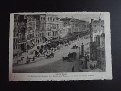 CPA 75 SERIE ANCIEN PARIS 9 THEATRES Boulevard Du TEMPLE Dit Du CRIME En 1848 ND PHOTO - France