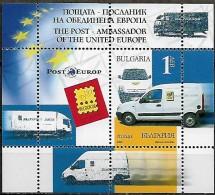 Bulgaria 2006 La Poste Ambassadrice Europe Unie Voiture, 1 Bloc Mnh - Bulgarie
