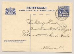 Nederlands Indië - 1934 - 5 Cent Briefkaart Karbouwen Lokaal LB BATAVIA CENTRUM/8 - Indes Néerlandaises