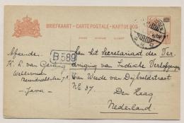 Nederlands Indië - 1930 - 5 Cent Op 12,5 Cent Briefkaart Van Weltevreden Naar Vereniging Van Indische Verlofgangers - Nederlands-Indië