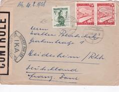 AUTRICHE 1948 LETTRE DE WALCHSEE CENSUREE - 1945-60 Lettres