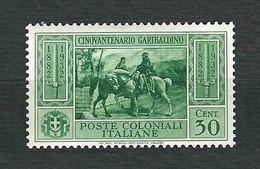 EMISSIONI GENERALI 1932 - Cinquantenario Garibaldino - 30 C. - MH - Sassone 4 - Emissioni Generali