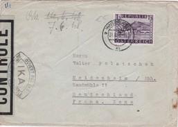 AUTRICHE 1948 LETTRE DE INNSBRUCK CENSUREE - 1945-60 Lettres