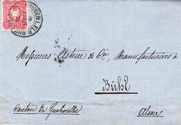 LAC Affr Michel 33 Obl MÜLHAUSEN I. ELS. BHF Du 16 APRIL 75 Adressée à Buhl - Marcophilie (Lettres)