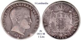 I-1811 M, 1 Lira , Milano - Monete Regionali