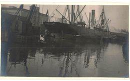 CPA N°11427 - S.S. MINNESOTAN NEW-YORK - CONSTRUIT EN 1912 - AMERICAN-HAIWAIIAN STEAMSHIP -CARTE PHOTO PORT ST NAZAIRE ? - Piroscafi