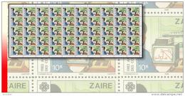 Zaire 1224** 10K  Télécommunication - Feuille/ Sheet De 50  MNH - Zaïre