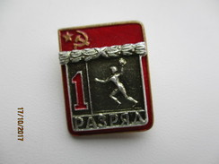 RUSSIA USSR ,  HANDBALL ,   1st CLASS SPORTSMAN PIN BADGE , 0 - Handball