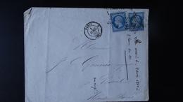 France - Enveloppe  -  Etoile Muette Sur 20c Nap III YT N° 14 - Année 1862 - 1849-1876: Classic Period