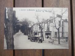 CPA  44 NANTES LA MORHONIERE BOULEVARD GABRIEL LAURIOL CAMION ANCIEN CAFE - Nantes