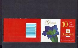 """- GRANDE BRETAGNE - """" TIMBRES De VOEUX - Détails De Dessins De Fleurs """"- Carnet N° 1925 - - Carnets"""