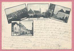 67 - GRUSS Aus BLIENSCHWEILER - BLIENSCHWILLER - 4 Vues - Hauptstrasse - Kirche - Rathaus - Brunnen - Frankrijk