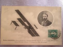 Biplan Champel ; Moteur Renault - Avions