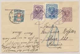 Schweiz - 1921 - 10 Cent Portomarke On Taxed Postcard From Kallwang / Österreich - Strafportzegels