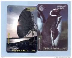 FALKLAND: FLK-2C & FLK-6A. 2 GPT Cards. CN:2CWFC & 6CWFA - Falkland Islands