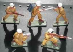 Jouet Vintage Rare Lot Jouets Légionnaires Du Désert Guerre Plastique STARLUX Militaria Légion - Starlux
