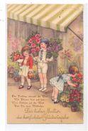 KINDER - Künstler - Karte HANNES PETERSEN, Kinder Im Blumenladen, 1933 - Children's Drawings