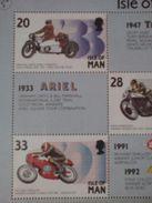 Angleterre - Ile De Man - Sport - Motocyclisme - Triumph Ariel Avec Side Norton Aermacchi Beta Bloc N° 57709 - Motorbikes