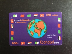 CARTE PREPAYEE ECONOTEL - Prepaid Cards: Other
