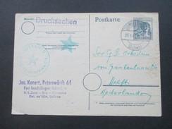 All. Besetzung 1948 Ganzsache Nach Delft / Niederlande. Esperanto Lingvo Internacia. Stern. Del. De UEA, SATano - Esperanto