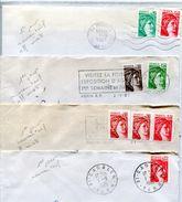 Lot De 4 Plis Avec Nouveaux Tarifs - Lot 18 - Marcophilie (Lettres)