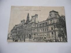 CARTOLINA FRANCIA PARIS L'HOTEL DE VILLE. - France