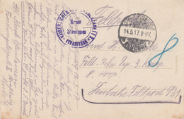 CP Obl STRASSBURG / * NEUDORF * Du 14.5.17 Avec Cachet KAISERLICHES FESTUNGSLAZARETT X * STRASSBURG * Adressée FP 931 - Postmark Collection (Covers)
