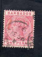 BARBADOS 1882-6 O - Barbados (...-1966)