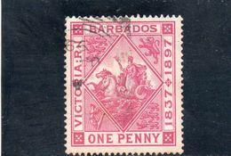 BARBADOS 1897 O - Barbados (...-1966)