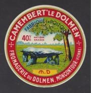 Etiquette De Fromage Camembert   -  Fromagerie Du Dolmen  MD  à  Montcontour   (86  )  -40% Différent - Fromage