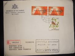 Saint Marin , Lettre Recommande De 1973 Pour Castres - Lettres & Documents
