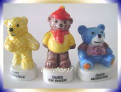 Ourson En Peluche ... 3 Fèves .. Ref AFF : 93-2007...(pan 0027) - Animals