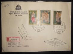 Saint Marin , Lettre Recommande De 1972 Pour Castres - Lettres & Documents