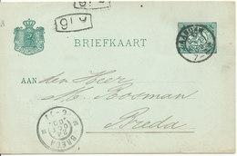 Netherlands Postal Stationery Postcard Zaandam 23-10-1900 Sent To Breda - Postal Stationery