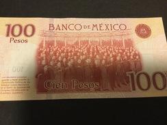 Mexico P130 100 Pesos 1917-2017 Commemorative 2017 Serie AX    AU-UNC. - Mexico