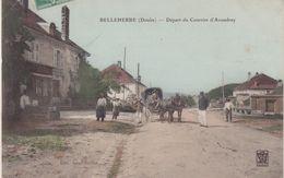 BELLEHERBE : DEPART DU COURRIER D' AVOUDREY  . ( COLORISEE ) - France