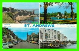 ST ANDREWS, SCOTLAND -  4 MULTIVIEWS - THE CASTLE, DUTCH VILLAGE, SOUTH ST. , THE HARBOUR - DENNIS & SONS LTD - - Fife