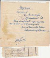 TELEGRAMME DUPLICATE, COPIER PAPER, RECEIPT, CAMPULUNG MOLDOVENESC, BUKOVINA, ABOUT 1944, ROMANIA - Télégraphes