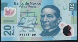 Mexico P122k  20 Pesos 23.1.2012 Serie T  VF Folds No P.h.! - Mexique