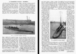 """LE SUBMERSIBLE FRANCAIS  """"ARCHIMEDE """"  1910 - Transportation"""