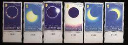 Aurigny Alderney 1999 N° 132 / 7 ** Astronomie, Eclipse Lunaire Totale, Lune, Soleil, Lumière, Terre, Météo, Télescope - Alderney
