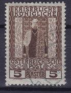 Austrian Post Levant 1908 Mi. 59   5 Pia Kaiser Franz Joseph - Oriente Austriaco
