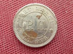 ALLEMAGNE Jeton Wert Marke P.H De 10 Pfennig Surfrappé 5 - Monétaires/De Nécessité