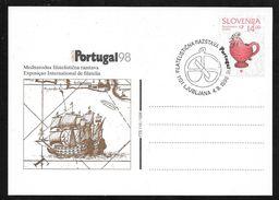 Slovenia - Portugal 98 Stamp Exhibition Card - Pictorial Postmark - Eslovenia